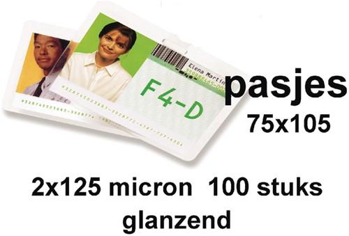 LAMINEERHOES GBC CLUB CARD 75X105MM 2X125MICRON 100 Stuk
