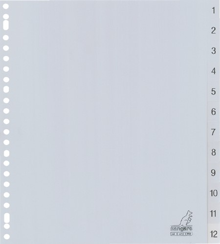 TABBLAD KANGARO G412CM-B A4 PP 12DLG 1-12 BREED 1 Set