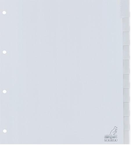 TABBLAD KANGARO G410F-B A4 4R PP 10DLG V-TABS BD 1 Set