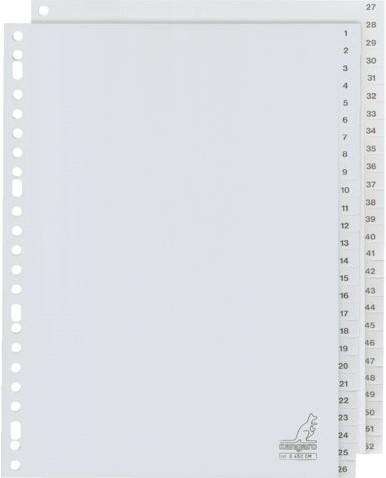 TABBLAD KANGARO G452CM A4 23R PP 52DLG 1-52 GRIJS 1 SET