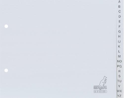 ORDNERALFABET KANGARO A5 G420AZS PP GRIJS 1 Set