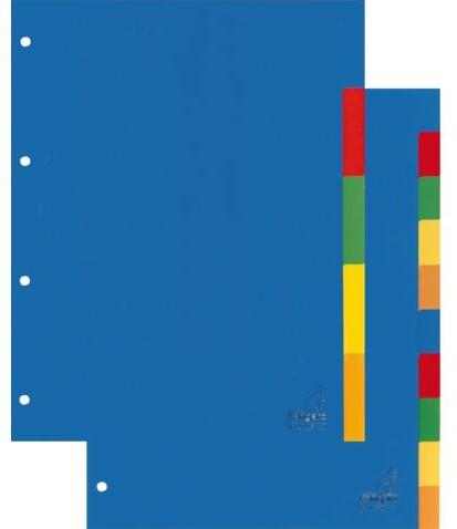 TABBLAD KANGARO A405 A4 2/4R BLANCO PP ASS 5DLG 1 SET-2