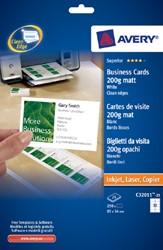 VISITEKAART AVERY ZWECK C32011-25 85X54MM 250ST 25 VEL