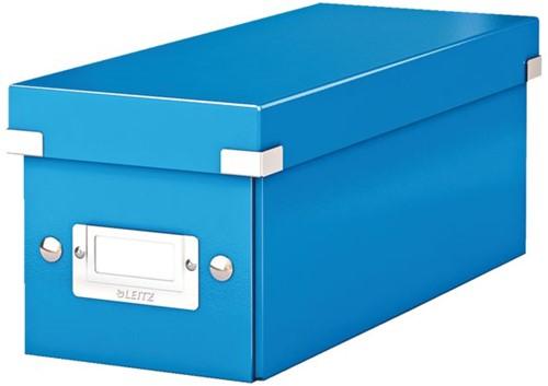 CD-BOX LEITZ WOW CLICK&STORE 143X136X352MM BLAUW 1 STUK
