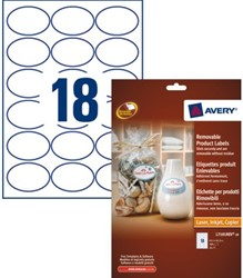 ETIKET AVERY L7101REV-20 63.5X42.3MM WIT 360ST 20 STUK