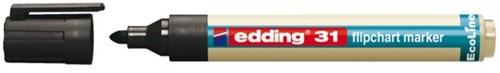 VILTSTIFT EDDING 31 ECO FLIPOVER ROND 1.5-3MM ZWART 1 STUK