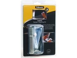 REINIGINGSSET FELLOWES LAPTOP SPRAY 30ML+DOEKJE 1 SET