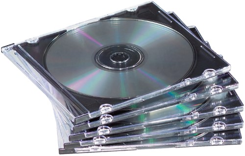 CD DOOS FELLOWES SLIMLINE TRANSPARANT 25 Stuk