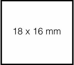 PRIJSETIKET SATO DUO 16 AFNBR TBV PB216 16x18MM 1500 STUK