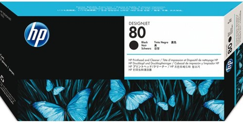 PRINTKOP HP 80 C4820A ZWART 1 STUK