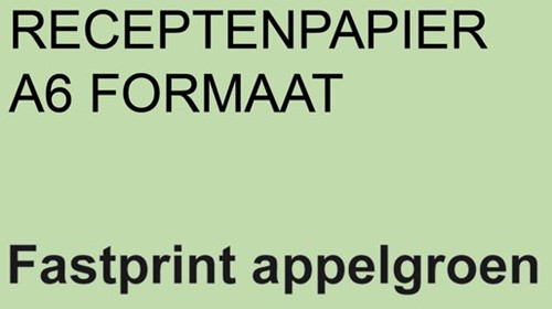 RECEPTPAPIER FASTPRINT A6 80GR APPELGROEN 2000 VEL