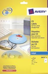 ETIKET AVERY CD J8676-25 50ST 25 VEL