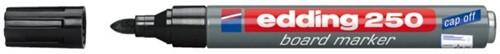 VILTSTIFT EDDING 250 WHITEBOARD ROND 2MM ZWART 1 STUK