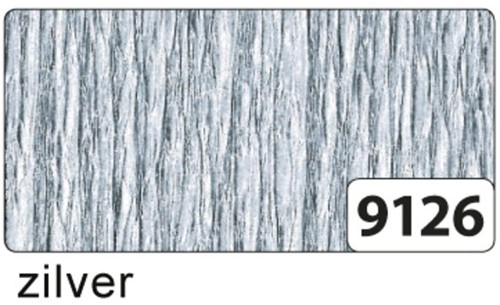 CREPEPAPIER FOLIA 250X50CM NR9126 ZILVER 1 STUK