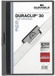 KLEMMAP DURABLE 2200 A4 PL/TR 3MM ANTRACIET/GRIJS 1 STUK