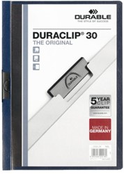 KLEMMAP DURABLE 2200 A4 PL/TR 3MM NACHTBLAUW 1 STUK