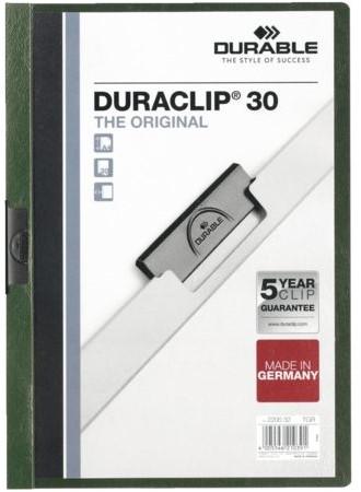 KLEMMAP DURABLE 2200 A4 PL/TR 3MM DONKERGROEN 1 STUK