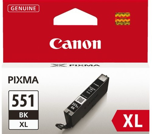 INKCARTRIDGE CANON CLI-551XL HC ZWART 1 STUK