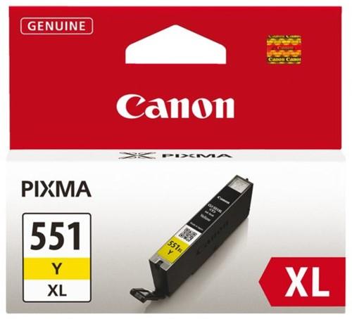 INKCARTRIDGE CANON CLI-551XL HC GEEL 1 STUK