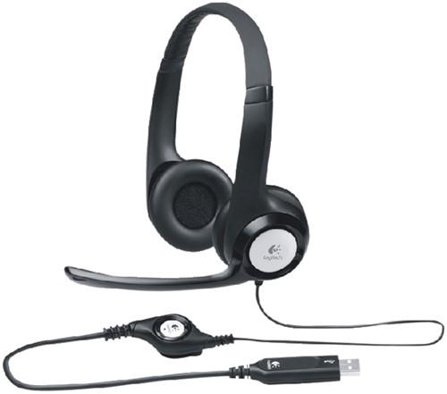 HEADSET LOGITECH H390 OVER EAR USB ZWART 1 Stuk