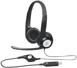 HEADSET LOGITECH H390 ON EAR USB ZWART 1 STUK