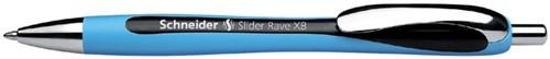 BALPEN SCHNEIDER SLIDER RAVE 0.6MM BLAUW/ZWART 1 Stuk