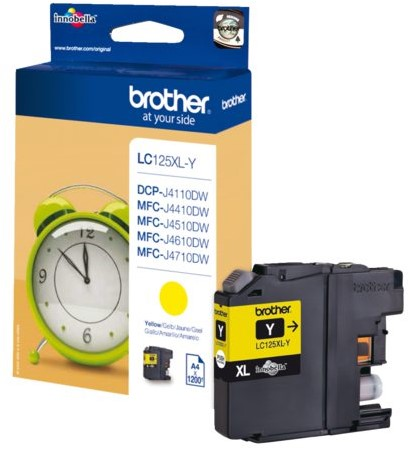 INKCARTRIDGE BROTHER LC-125XL GEEL 1 STUK