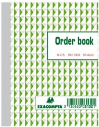 ORDERBOEK EXACOMPTA 135X105MM 50X2V 1 STUK