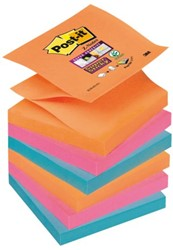 MEMOBLOK 3M POST-IT Z-NOTE S330-6EG STICKY ASS 6 STUK