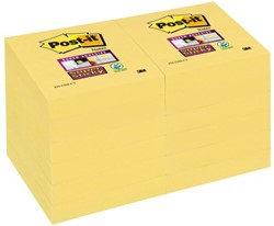 MEMOBLOK 3M POST-IT 622 51X51MM SS GEEL 12 STUK