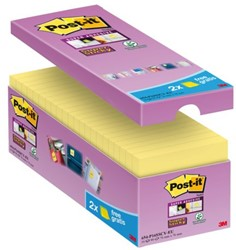 MEMOBLOK 3M POST-IT 654 76X76MM SS GEEL 16 STUK