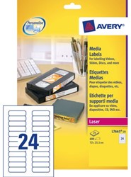 ETIKET AVERY DATA L7665-25 72X21.2MM 600ST 25 VEL