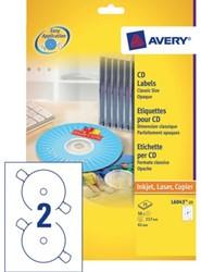 ETIKET AVERY ZWECK CD L6043-100 200ST 100 VEL