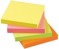 MEMOBLOK QUANTORE 75X75MM STICKY NEON ASS 1 STUK