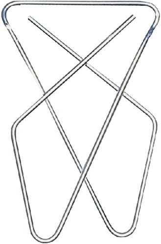 VLINDERCLIP LPC 57X50MM VERNIKKELD 50 Stuk