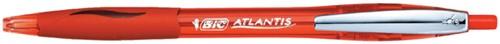 BALPEN BIC ATLANTIS SOFT METALEN CLIP ROOD 1 Stuk