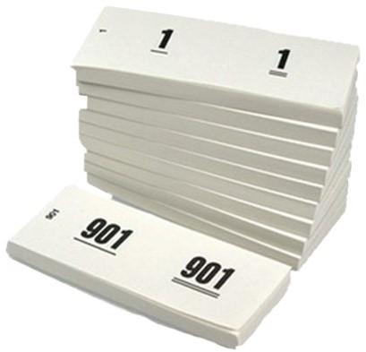 NUMMERBLOK 42X105MM NUMMERING 1-1000 WIT 10STUK 10 STUK