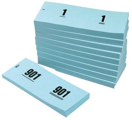 NUMMERBLOK 42X105MM NUMMERING 1-1000 BLAUW 10STUK 10 STUK