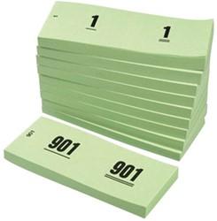 NUMMERBLOK 42X105MM NUMMERING 1-1000 GROEN 10STUK 10 STUK