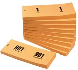 NUMMERBLOK 42X105MM NUMMERING 1-1000 ORANJE 10STUK 10 STUK