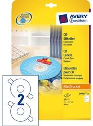 ETIKET AVERY ZWECK CD L6015-25 50ST 25 VEL