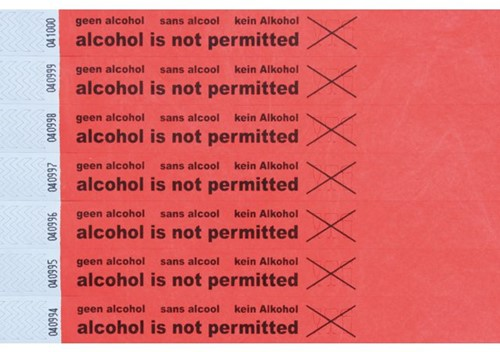 POLSBAND COMBICRAFT ALCOHOL NOT PERMITTED 100 STUK