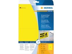 ETIKET HERMA 8032 105X148MM 100ST GEEL 25 VEL