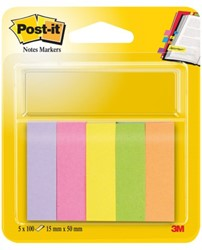 INDEXTABS 3M POST-IT 670/5 15X50MM ULTRA 5X100 VEL