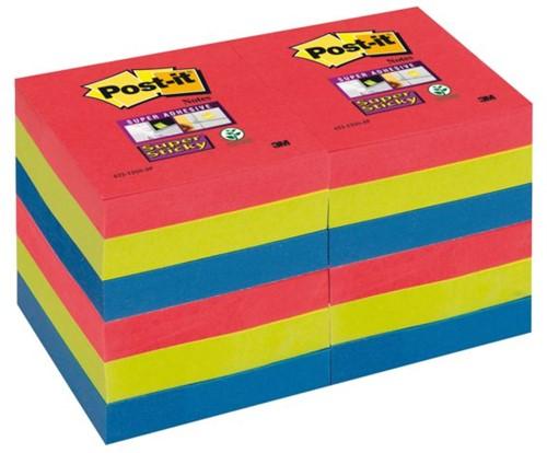MEMOBLOK 3M POST-IT 622-SSJP 47.6X47.6MM SS RD/GN/BL 12 STUK