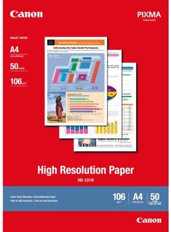 INKJETPAPIER CANON HR-101 A4 106GR HOGE RESOLUTIE 50 VEL