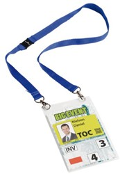 BADGE DURABLE EVENT MET KOORD A6 DONKERBLAUW 10 STUK