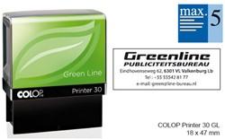 TEKSTSTEMPEL COLOP 30 GREEN BON 5R 47X18MM 1 STUK