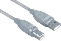 KABEL HAMA USB 2.0 A-B 1.8M GRIJS 1 STUK