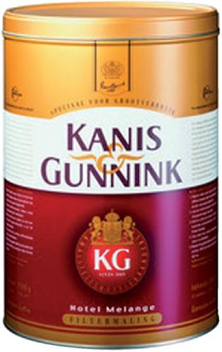 Koffie Kanis Gunnink hotelmelange rood 2500gr 2500 Gram